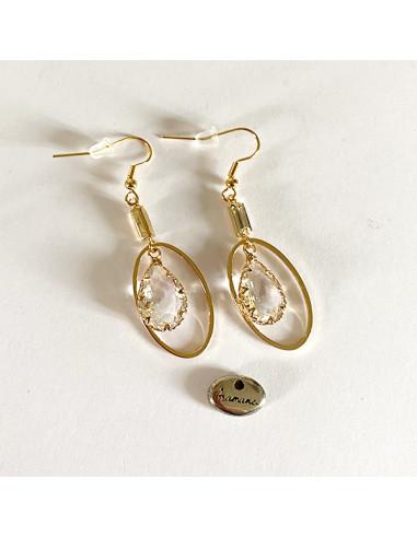Boucles-oreilles-larme-verre-transparent-doré-Aramance