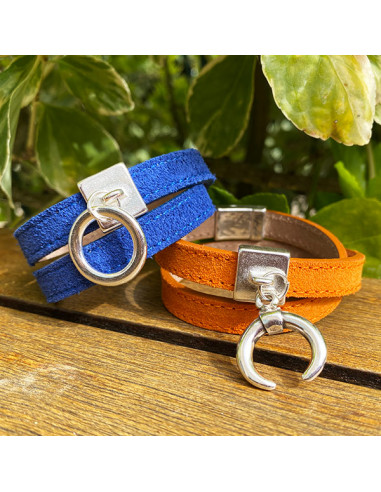 Bracelet-nubuck-bleu-orange-2tours-Aramance