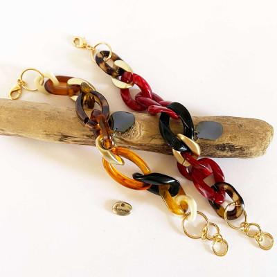 Bracelets composés d'acétate, avec cordon