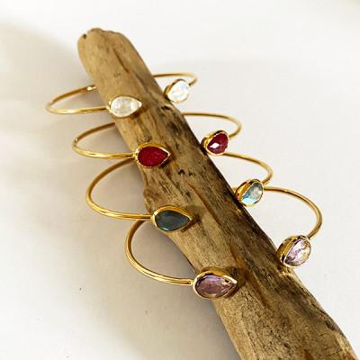 bracelet en argent, argent rhodié ,laiton plaqué or 3 microns